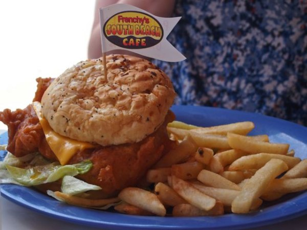 Frenchy's famous fried fish sandwiches