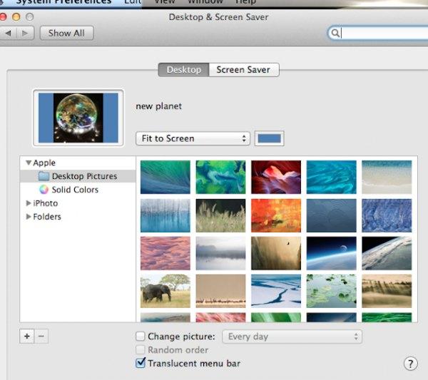 Background photo switch on a Mac