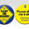 MTA Hands Out Baby on Board Buttons to Pregnant Straphangers