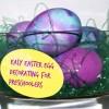 Easy Easter Egg Decorating Ideas: Tie Dye Easter Eggs for Preschoolers