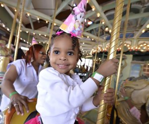 The 1912 Carousel at Prospect Park offers birthday parties for all ages. Photo by Paul Martinka for Prospect Park Alliace