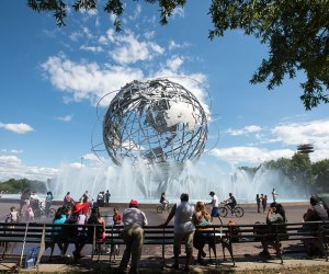 The iconic Unisphere is always a draw. Photo by Julienne Schaer for NYCgo