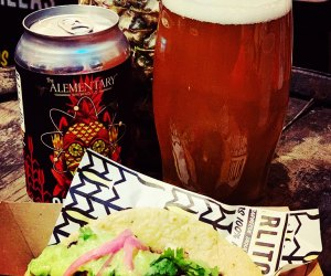 Kids will love the food while parents have a tasty brew at The Alementary.