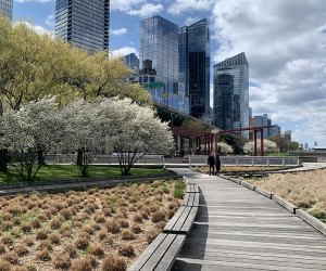 Riverside Park South provides a lovely bridge between the concrete jungle and the Hudson River, and warm weather means it's time to explore this new green space now.