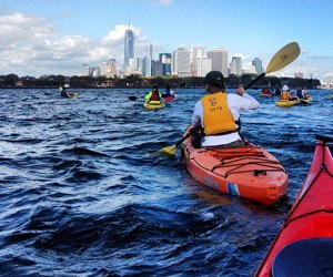 Kayaking in the East River