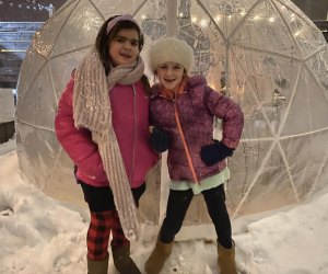 Igloos make outdoor restaurants feel a bit like winter wonderlands. Photo by Ally Noel