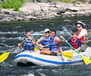 Take the fam for a paddle down the rapids