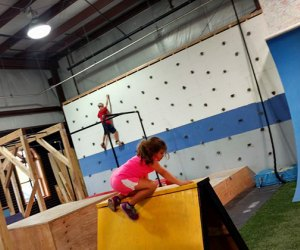 Nex Level Arena kids climbing on obstacles and wall Indoor Obstacle Courses, Ninja Warrior Training, and Aerial Arts for NJ Kids