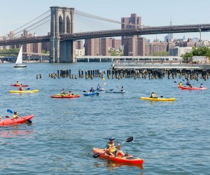 Hit the water for a Father's Day adventure in NYC. Photo courtesy of Brooklyn Bridge Park