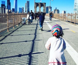Watch the city wake up as you stroll across the Brooklyn Bridge. Photo  by Meagan Newhart
