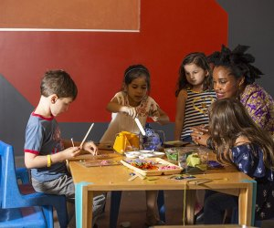 Kids participate in hands-on art projects at ColorLab at the Brooklyn Children's Museum.