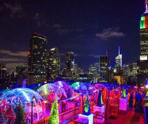 Enjoy outdoor dining with a view at the 230 Fifth Rooftop