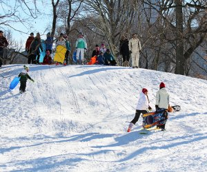 Central Park has plenty of sledding hills
