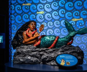 Mami Wata heals the sick and brings good luck to her followers, but she also has a temper and will drown people who don't obey her. Photo credit AMNH