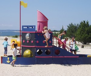 Hit one of Long Island's beautiful beaches for playtime in the sand, surf, or on the playground.