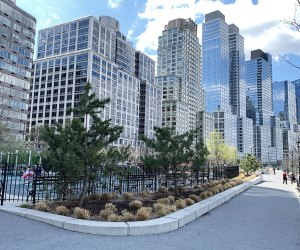 Riverside Park South pathways and planting beds