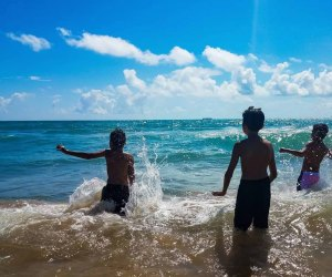 Splashing around off the coast of South Padre, a great family vacation spot for Houston families