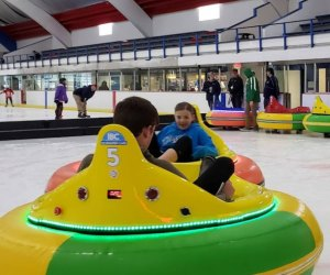 Ocean Ice Palace offers ice bumper car sessions Friday–Sunday.