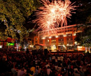 Hanging out on the green space in CITYCENTRE for the 4th of July. Photo courtesy of CITYCENTRE