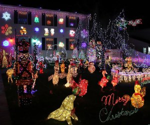 Fifth Streets Christmas Lights in Ronkonkoma