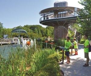 Kids learn and play at the Rory Meyers Children's Adventure Garden at the Dallas Arboretum. Photo courtesy the Dallas Arboretum