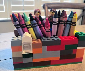 Build a crayon caddy with your Lego!