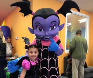 Kids who party at Jam Time get treats, crafts, and a meet-up with Vampirina. Photo courtesy of Jam Time Natick