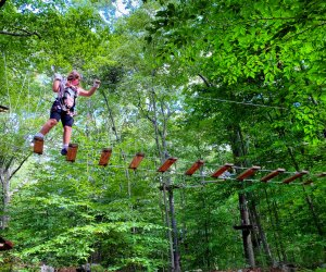 Let the kids test their bravery with an Adventure Park challenge. Photo by Ally Noel