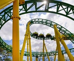 Hop aboard a roller coaster at Adventureland amusement park