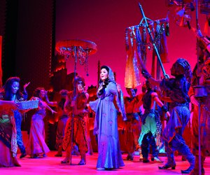 In Aladdin, one lamp and three wishes make infinite possibilities. Photo courtesy of the Disney Theatrical Group