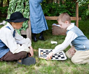 Before there were video games, checkers was all the rage. Have some old time fun at Liberty Pole Day. Photo courtesy of Alden House