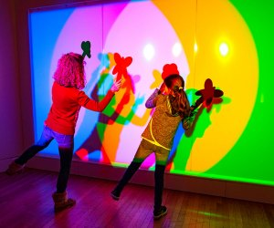 "Play with light and color at the American Museum of Natural History's ""The Nature of Color,"" which is newly reopened along with the rest of the museum. Photo by D. Finnin/courtesy AMNH"