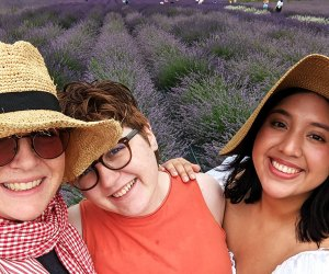 A selfie in a lavender field