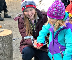 Kids find out where the sweet stuff comes from. Photo courtesy of Appleton Farms