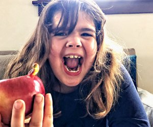 Yuck! There's a 'worm' in my apple! Photo by Ally Noel