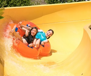 Aquatica SeaWorld's Waterpark has double tube water slides for two people to slide together. Photo by Mike Aguilera/Sea World San Diego