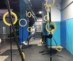Hone your ninja warrior skills at Area 53 NYC's Adventure Park in Williamsburg.