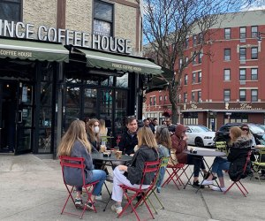 Prince Coffee House people dining at outdoor tables