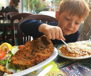Tierras Colombianas traditional dishes win over kids with yummy comfort food. Photo by Sydney Ng