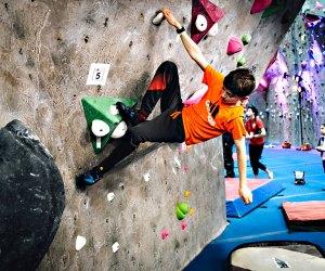 Kids can climb the walls at the Cliffs at Valhalla