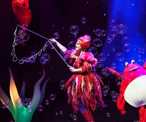B-The Underwater Bubble Show comes to bergenPAC on Sunday. Photo courtesy of the show
