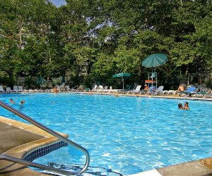 Briar Hill sits on a 4-acre wooded site in Riverdale with a huge outdoor swimming pool.