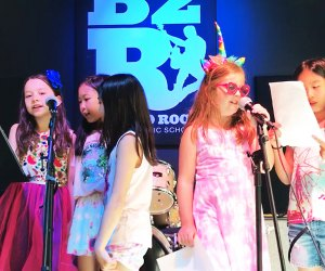At a Bach to Rock birthday party, kids can sing karaoke or record their own CD.