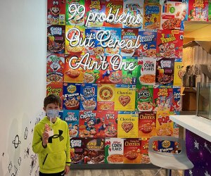The Milky Ways' cereal wall begs for selfies.