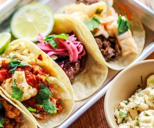 A plate of pretty tacos at Bartaco
