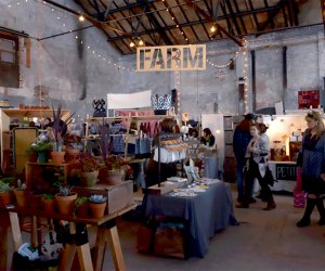 Basilica Farm & Flea Holiday Market showcases regional goods in a reclaimed, solar-powered 1880s factory. Photo courtesy of the market