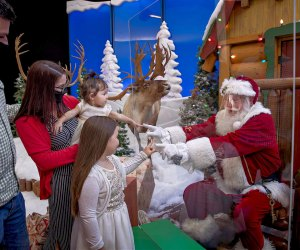 This year visit Santa and stay safe with a clear protective barrier. Photo courtesy of Bass Pro Shops