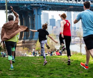 Spend the day romping through Brooklyn Bridge Park or check out all the things to do with dad in the city for Father's Day.  Photo by Alexa Hoyer