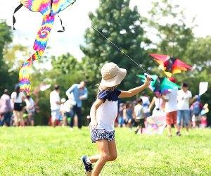 Watch kites soar, bump, and glide at Lift Off, a kite festival in Brooklyn Bridge Park .