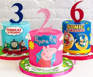 BCakeNY can customize a 6-inch round cake with your kid's favorite characters.